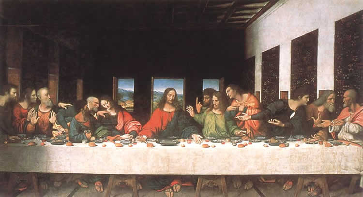 Тайна вечери Леонардо Да Винчи