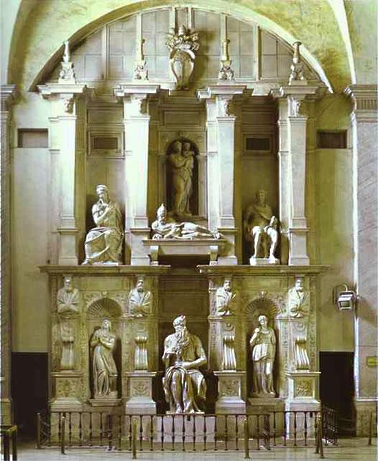 Микеланжело Буонарроти - Гробница Папы Юлия II и Моисей