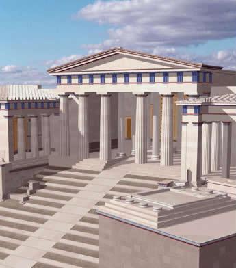 Каждое из священных сооружений акрополя посвящено кому-то из древнегреческих богов