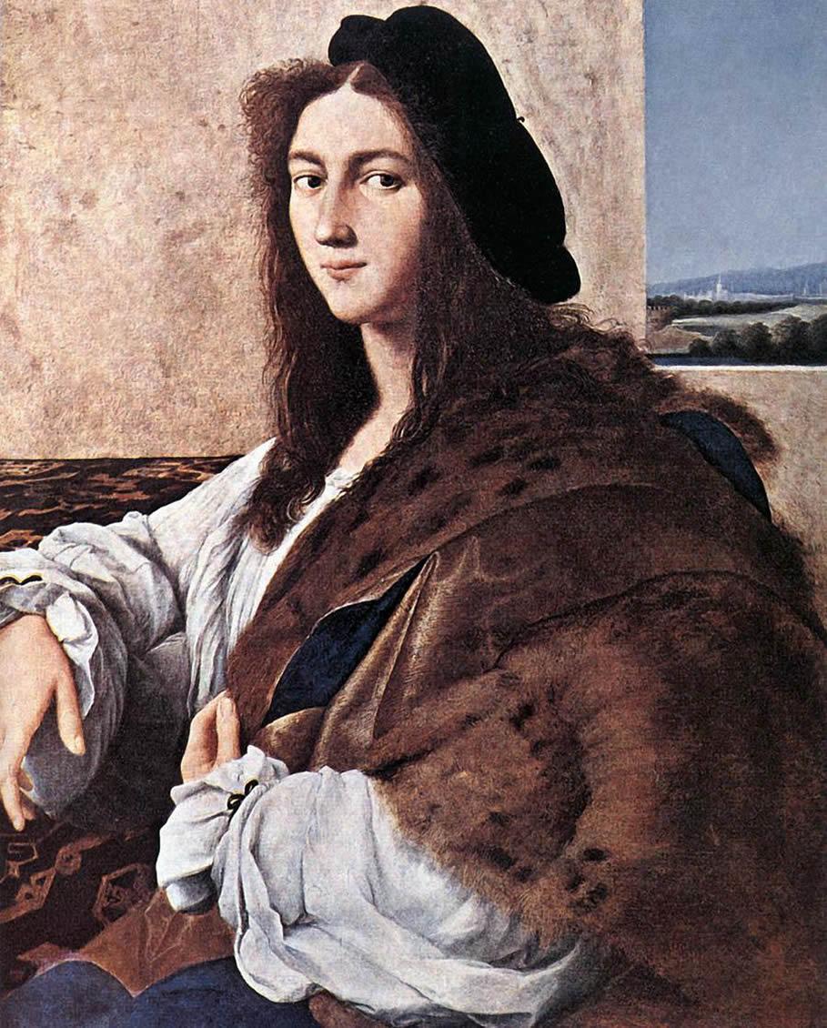 Portrait of a Young Man by Raphael Sanzio 1514. Possible Self-portrait Raffaello Santi