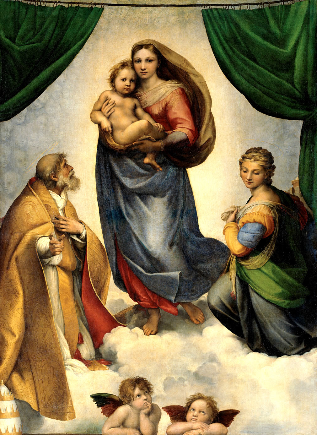 Sistine madonna by raphael sanzio symbolism description famous sistine madonna by raphael sanzio symbolism description famous paintings altarpiece of the virgin mary biocorpaavc Image collections