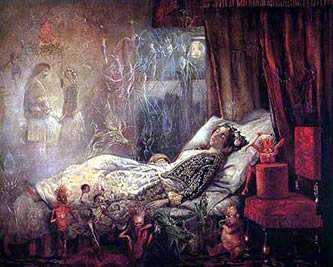 The Stuff that Dreams Are Made of (1858), painted by John Anster Fitzgerald