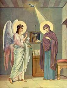 Архангел Гавриил принес Деве Марии самую большую новость – Сын Божий становится Сыном человеческим