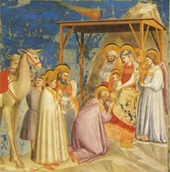 Пастухи решили пойти в пещеру и воочию убедиться в сказанном – и они действительно увидели младенца, спящего в кормушке для скота...