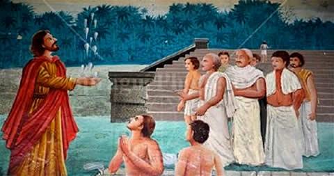 Апостол Фома крестит индийцев, фреска