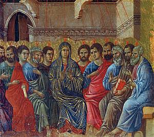 Сошествие святого духа на апосолов в сионской горнице