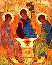 Икона Святой Троицы. Андрей Рублев. Ок. 1411г.
