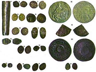 Монеты древней Руси дирхемы куны ногаты гривны рубли  Монеты древней Руси рубль полтина деньга пулы и др